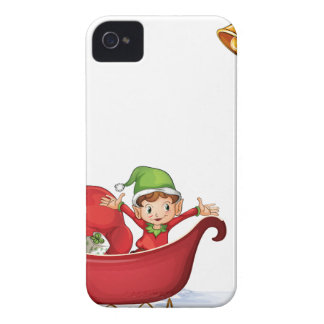 Christmas banner iPhone 4 Case-Mate case