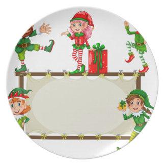 Christmas Banner Plate