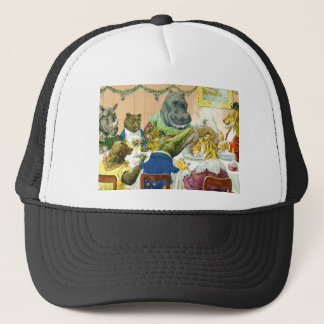 Christmas Banquet in Animal Land Trucker Hat