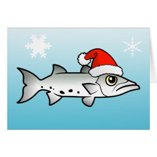 Christmas Barracuda Santa Card