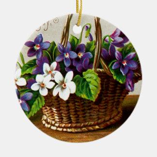 Christmas Basket Christmas Ornament