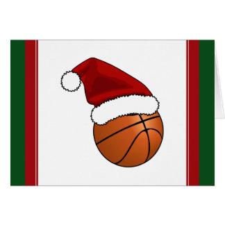 Christmas Basketball Greeting Card