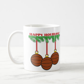 Christmas Basketball Mug