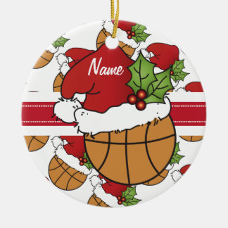 Christmas Basketball Personalize Ornament