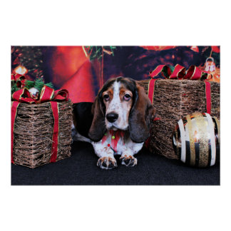 Christmas - Basset - Bailey Sue Posters