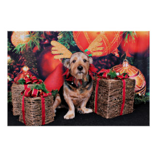 Christmas - Basset Hound X Print