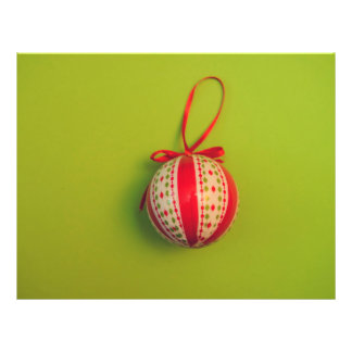 Christmas bauble 21.5 cm x 28 cm flyer