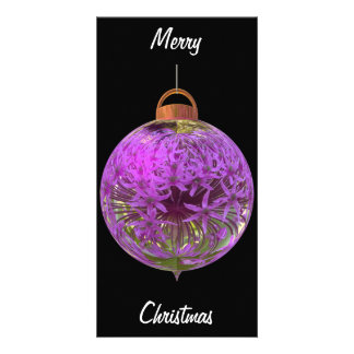 Christmas bauble allium photo greeting card