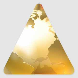 Christmas Bauble Bow Globe World Earth Triangle Sticker