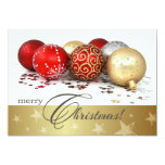 Christmas Bauble Design Christmas Party Invitation