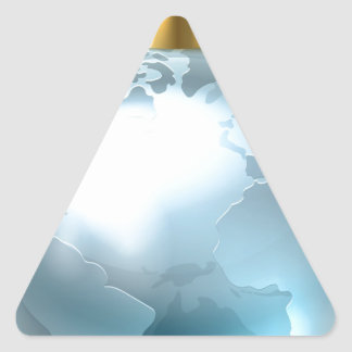 Christmas Bauble Globe World Earth Triangle Sticker