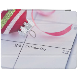 Christmas bauble on calendar iPad cover