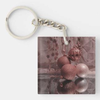 Christmas Baubles,elegant Square Acrylic Keychain