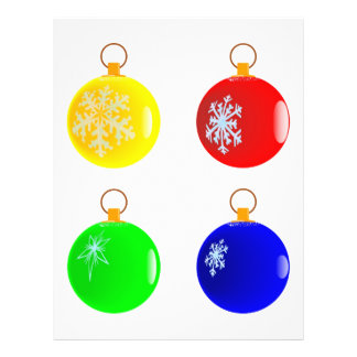 Christmas Baubles Flyer. 21.5 Cm X 28 Cm Flyer