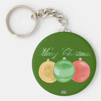 Christmas Baubles (gold/green/red) Keychain