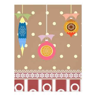 Christmas baubles illustration 21.5 cm x 28 cm flyer