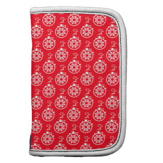 Christmas Baubles Pattern Red Organizers