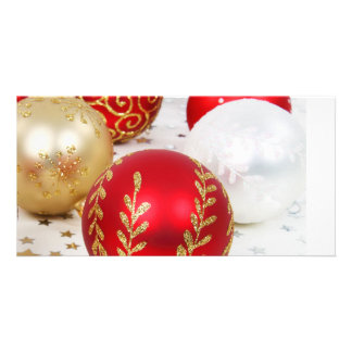 Christmas Baubles Photo Card Template