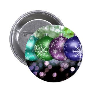 Christmas Baubles Pinback Button