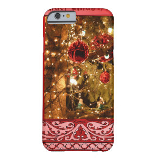 Christmas baubles pink barely there iPhone 6 case