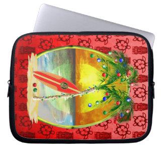 Christmas Beach Sunset Laptop Sleeve