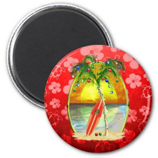Christmas Beach Sunset Fridge Magnets