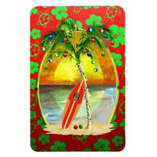 Christmas Beach Sunset Vinyl Magnet