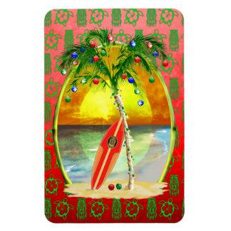 Christmas Beach Sunset Vinyl Magnets