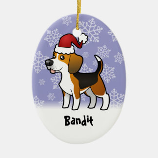 Christmas Beagle (add your pets name) Christmas Ornament