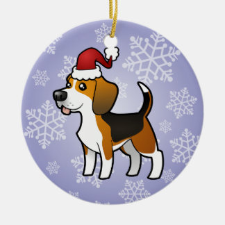 Christmas Beagle Christmas Ornament
