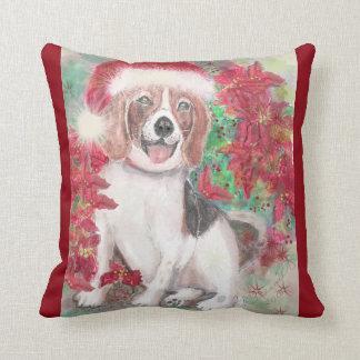 Christmas Beagle Cushion