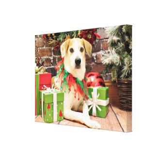 Christmas - Beagle - Laver Gallery Wrap Canvas