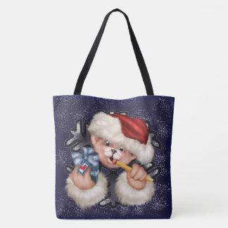 CHRISTMAS BEAR 2  All-Over-Print Tote Bag Large