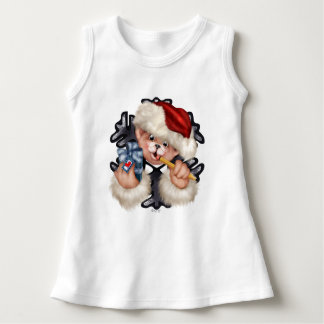 CHRISTMAS BEAR 2 CARTOON Baby Sleeveless Dress