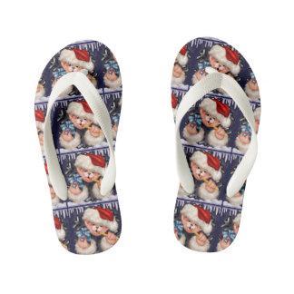 CHRISTMAS BEAR 2 CARTOON Flip Flop shoes kids Flip Flops