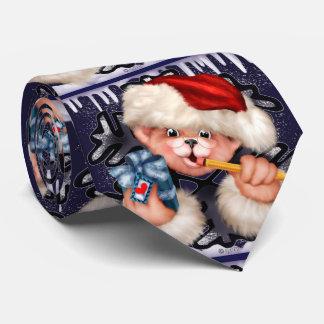 CHRISTMAS BEAR 2 CARTOON Neck Tie