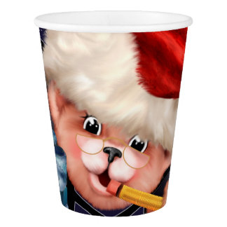 CHRISTMAS BEAR 2 CARTOON Paper cup