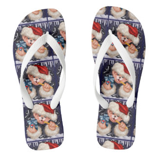 CHRISTMAS BEAR 2 Flip Flop  Adult, Wide Straps