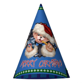 CHRISTMAS Bear 2 Party Hat