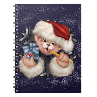 CHRISTMAS BEAR 2  Photo Notebook (80 Pages B&W)