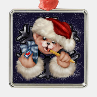 Christmas Bear 2 Premium Square Ornament