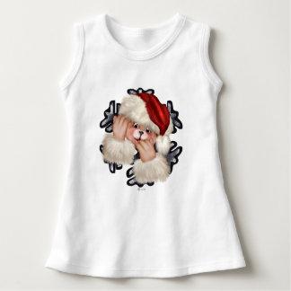 CHRISTMAS BEAR 3 CARTOON Baby Sleeveless Dress