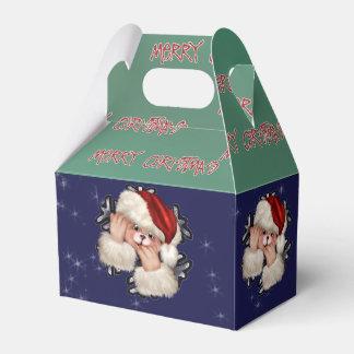 CHRISTMAS BEAR 3 CARTOON Gable Favor Box