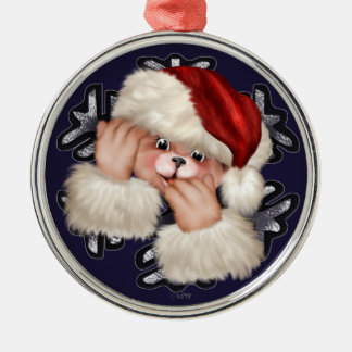 Christmas Bear 3 Premium Round Ornament