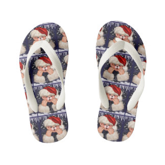 CHRISTMAS BEAR 4 CARTOON Flip Flop shoes kids