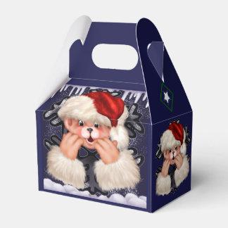 CHRISTMAS Bear 4 CARTOON Gable Favor Box