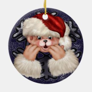 Christmas Bear 4 Circle Ornament