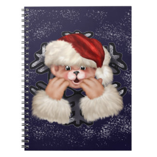 CHRISTMAS BEAR 4  Photo Notebook (80 Pages B&W)