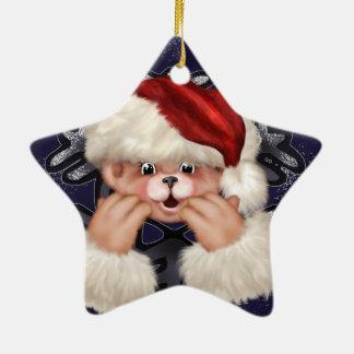 Christmas Bear 4 Star Ornament