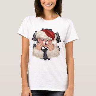 CHRISTMAS BEAR 4 Women's Basic T-Shirt